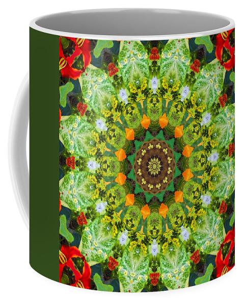 Kaleidoscope Coffee Mug featuring the photograph Wreath Kaleidoscope by Bill Barber