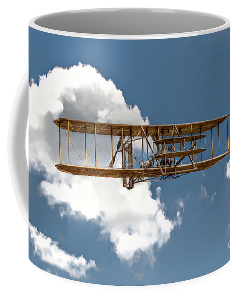 Wright Brothers Coffee Mug featuring the digital art Wright Brothers First Flight by Randy Steele