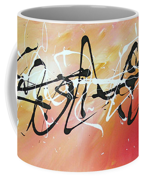 Sophisticated Coffee Mug featuring the painting Writing On The Wall By Madart by Megan Duncanson