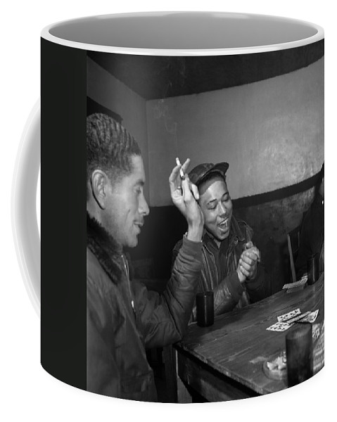 1945 Coffee Mug featuring the photograph Wwii: Tuskegee Airmen, 1945 by Granger
