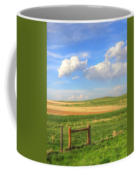 Wyoming Coffee Mug featuring the photograph Wyoming Landscape by Lanita Williams