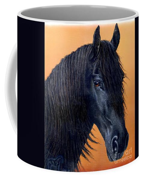 Horse Coffee Mug featuring the painting Wytse by Jurek Zamoyski