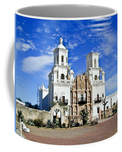 Mission San Xavier Del Bac Coffee Mug featuring the photograph Xavier Tucson Arizona by Douglas Barnett