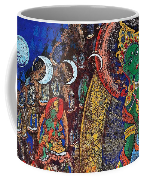 Pd Coffee Mug featuring the painting Xiangba - Tibet by Pg Reproductions