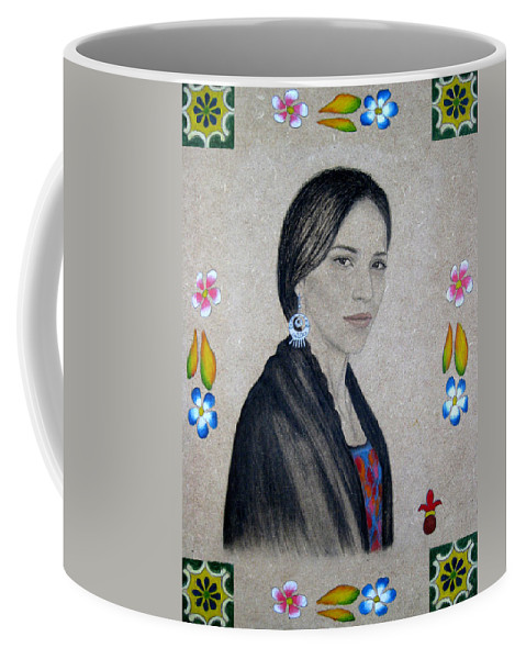 Flower Coffee Mug featuring the painting Xochitl by Lynet McDonald