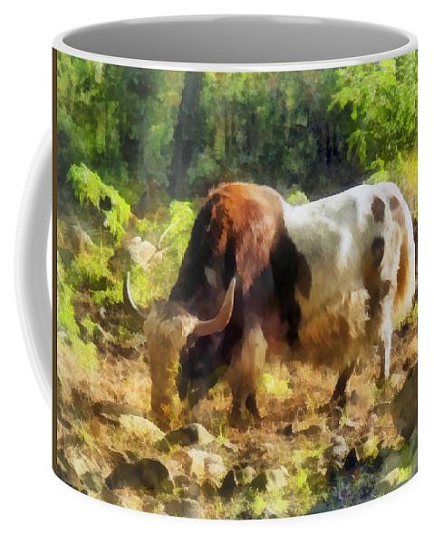 Yak Coffee Mug featuring the photograph Yak Having A Snack by Susan Savad