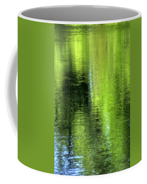 Yamhill Coffee Mug featuring the photograph Yamhill River Abstract 24831 by Jerry Sodorff