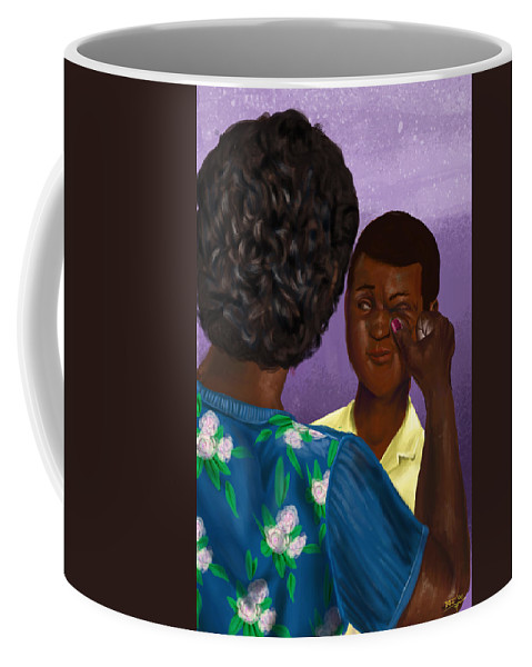 Caribbean Coffee Mug featuring the digital art Yampee by David James