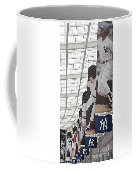Yankee Stadium Coffee Mug featuring the photograph Yankee Flags Two by Michelle Welles