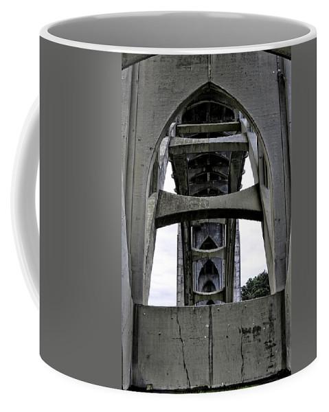 Newport Coffee Mug featuring the photograph Yaquina Bay Bridge - Series C by Image Takers Photography LLC - Laura Morgan