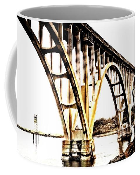 Newport Coffee Mug featuring the photograph Yaquina Bay Bridge - Series G by Image Takers Photography LLC - Laura Morgan