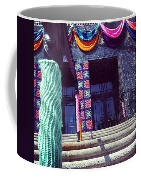 Yarnamention Coffee Mug featuring the photograph Yarnamention At The Perelman Building by Katie Cupcakes