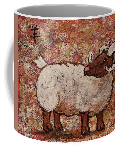 Year Of The Ram Coffee Mug featuring the painting Year Of The Ram by Darice Machel McGuire