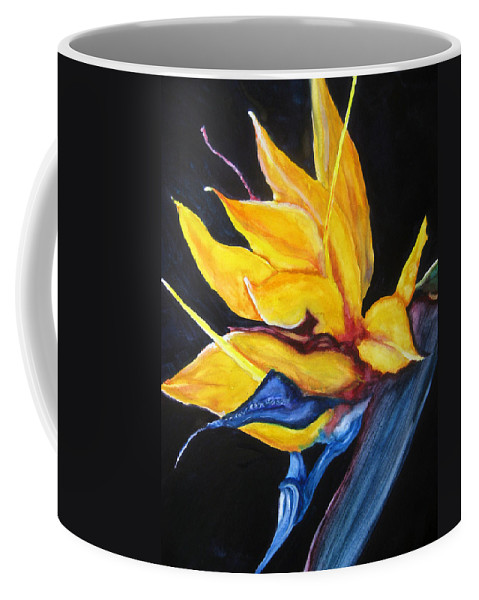 Lil Taylor Coffee Mug featuring the painting Yellow Bird by Lil Taylor