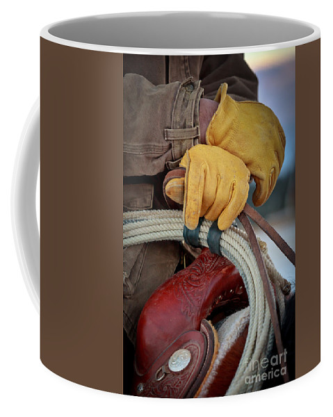 America Coffee Mug featuring the photograph Yellow Gloves by Inge Johnsson