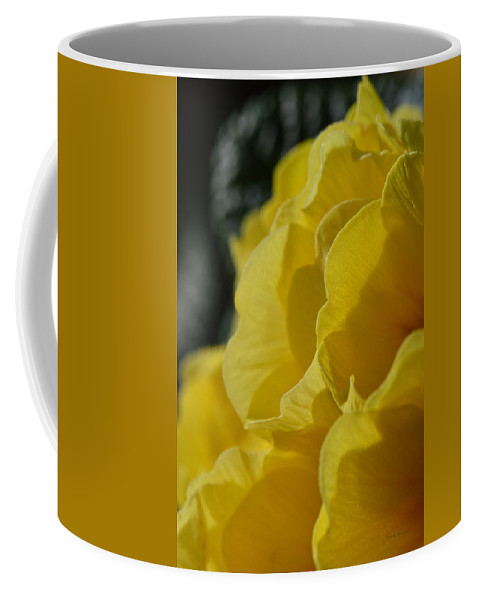 Flowers Coffee Mug featuring the photograph Yellow Landscape by Donna Blackhall