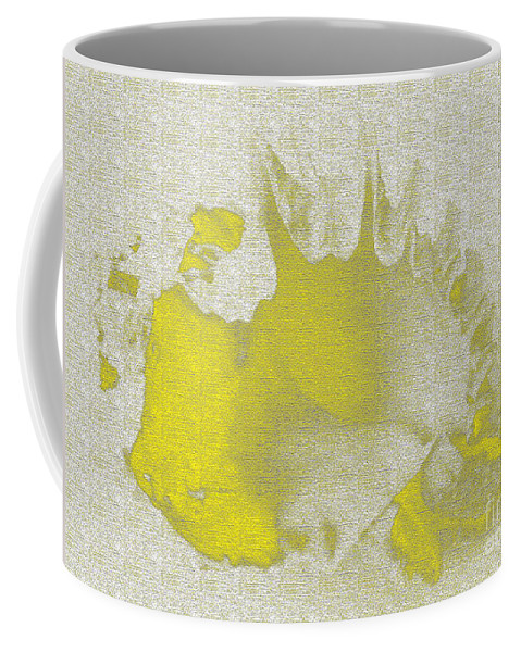 Yellow Coffee Mug featuring the digital art Yellow Shell by Carol Lynch