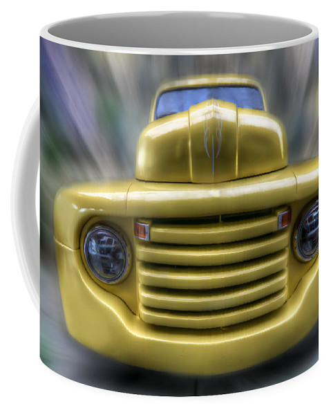 Car Coffee Mug featuring the digital art Yellow Peril by Nathan Wright