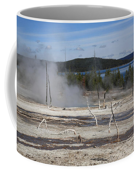 America Coffee Mug featuring the photograph Yellowstone National Park - Hot Springs by Frank Romeo