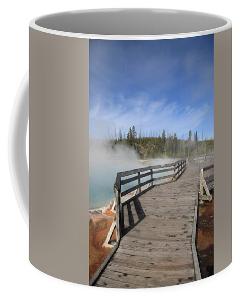 America Coffee Mug featuring the photograph Yellowstone Park - West Thumb Geyser Basin by Frank Romeo
