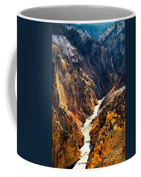 Yellowstone Coffee Mug featuring the photograph Yellowstone River by Kathy McClure