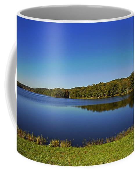 Brown Coffee Mug featuring the photograph Yellowwood Lake 1 by Alan Look