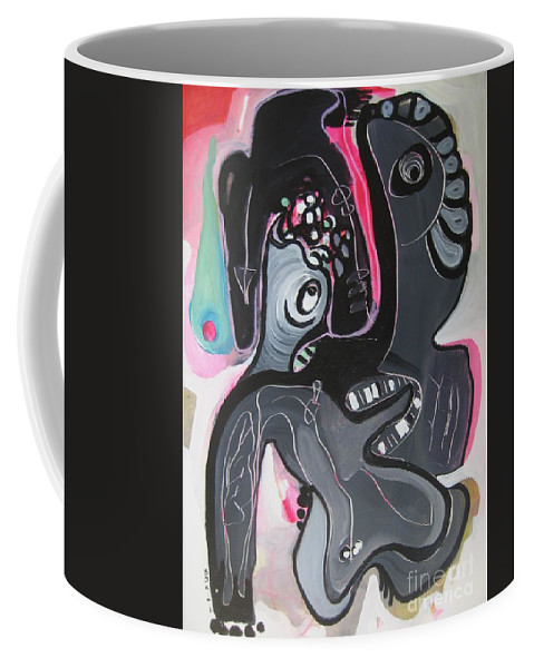 Couple Paintings Coffee Mug featuring the painting You And I Are by Seon-Jeong Kim