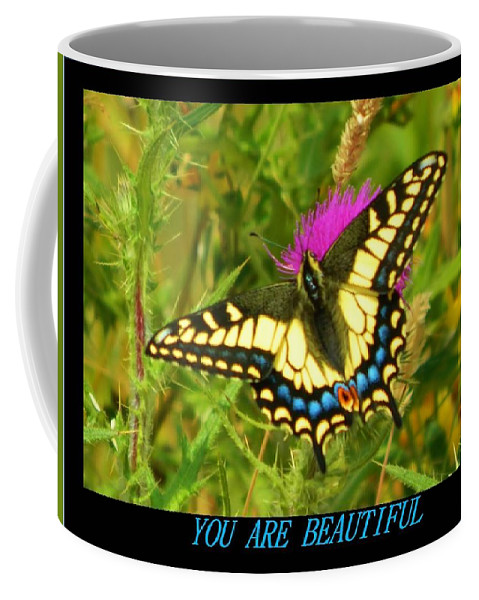 Butterfly Coffee Mug featuring the photograph You Are Beautiful by Gallery Of Hope