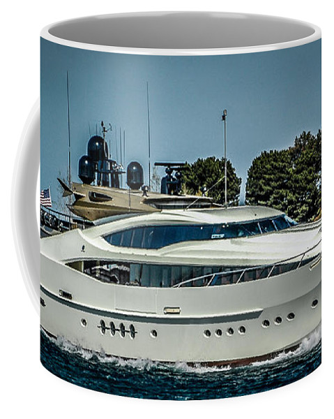Ship Coffee Mug featuring the photograph You Could Have One - Work Hard by Ronald Grogan