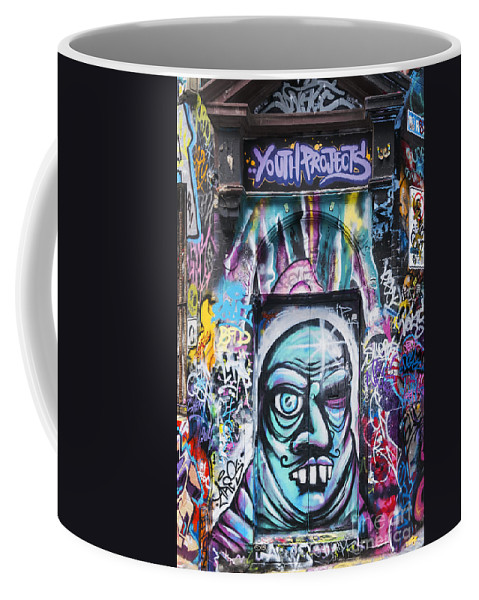 Melbourne Australia Street Art Colorful Alley Artwork Painting Streets Alleys Graffiti City Cities Cityscape Cityscapes Coffee Mug featuring the photograph You Should See The Other Guy by Bob Phillips