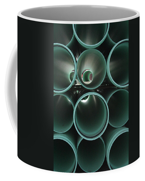 Abstract Coffee Mug featuring the photograph You Too Will Someday Be Underground by Ric Bascobert