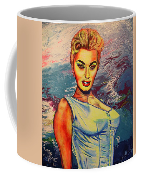 Figurative Coffee Mug featuring the painting Young Lady.sophia. by Viktor Lazarev