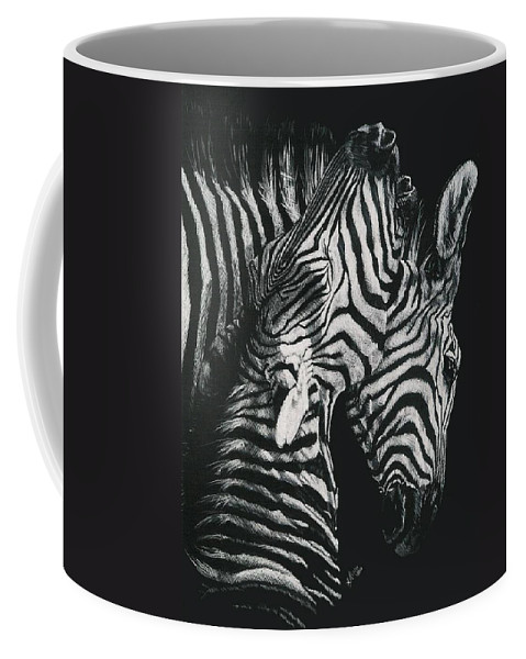 Art Coffee Mug featuring the drawing Youngbloods by Barbara Keith