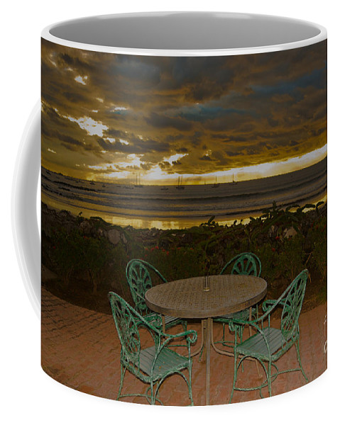 Boat Coffee Mug featuring the photograph Your Table Is Ready by Gary Keesler
