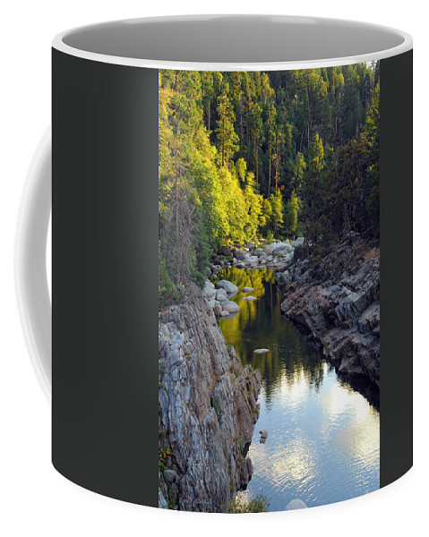 Yuba River Coffee Mug featuring the photograph Yuba River Twilight by Donna Blackhall