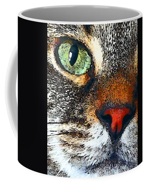 Yuki Coffee Mug featuring the photograph Yuki's Watching by David G Paul