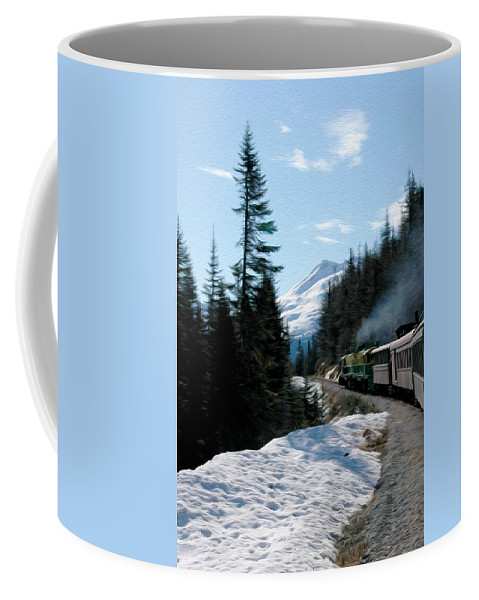 Yukon Railroad Coffee Mug featuring the photograph Yukon Railroad by Tracy Winter