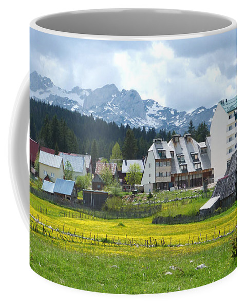 Houses Coffee Mug featuring the photograph Zabljak - Montenegro by Phil Banks