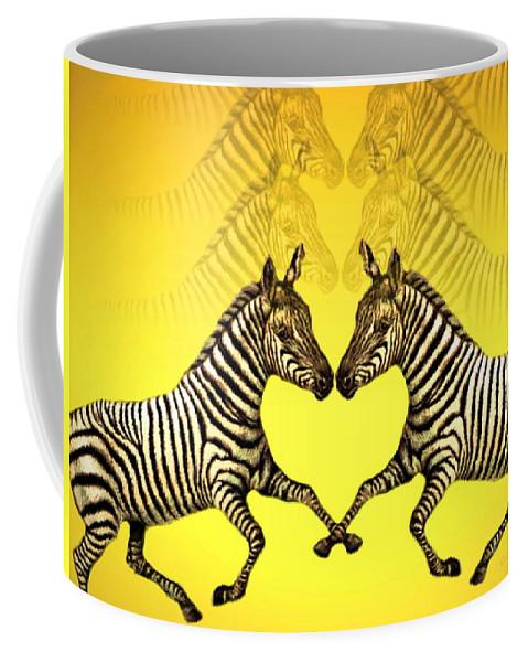 Zebra Coffee Mug featuring the photograph Zebra Heart by Joyce Dickens