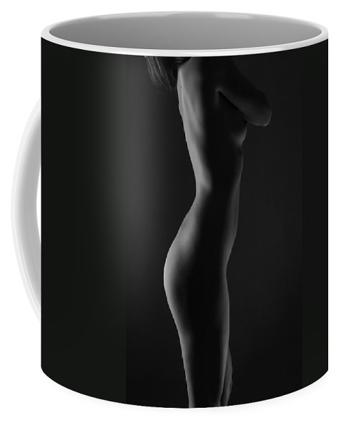 Black And White Coffee Mug featuring the photograph Zen by Blue Muse Fine Art