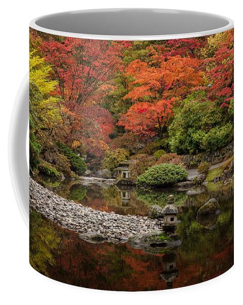 Fall Colors Coffee Mug featuring the photograph Zen Foliage Colors by Mike Reid