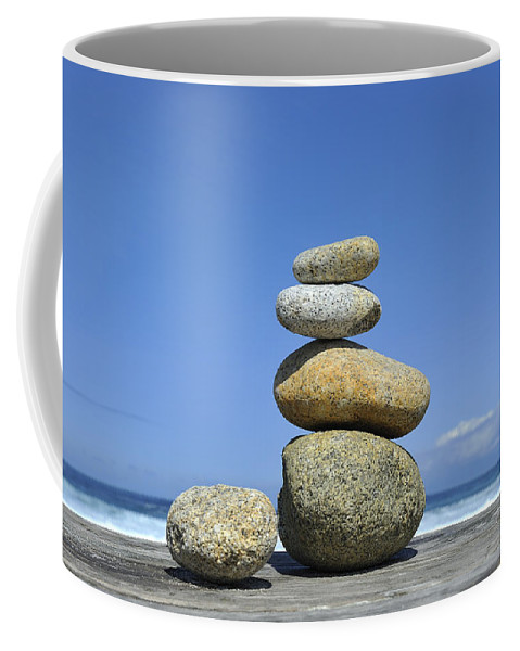 Zen Coffee Mug featuring the photograph Zen Stones I by Marianne Campolongo