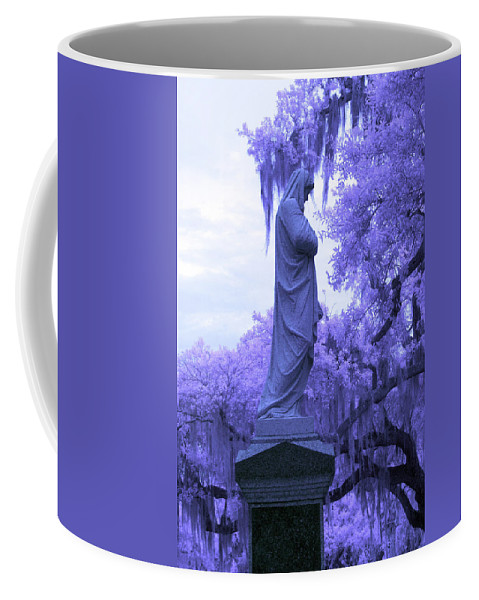 Near Coffee Mug featuring the photograph Ziba King Memorial Statue Side View Florida Usa Near Infrared by Sally Rockefeller