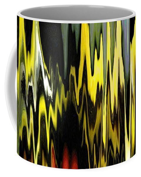 Bright Coffee Mug featuring the digital art Zig Zag by Mary Bedy