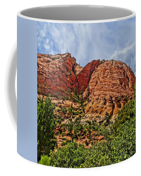 Zion National Park In Summer Coffee Mug featuring the photograph Zion National Park In Summer by Dan Sproul