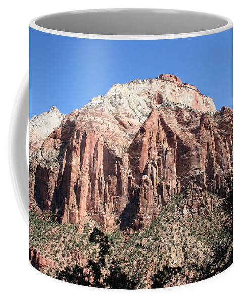 Mountains Coffee Mug featuring the photograph Zion Park Mountainscape by Christiane Schulze Art And Photography