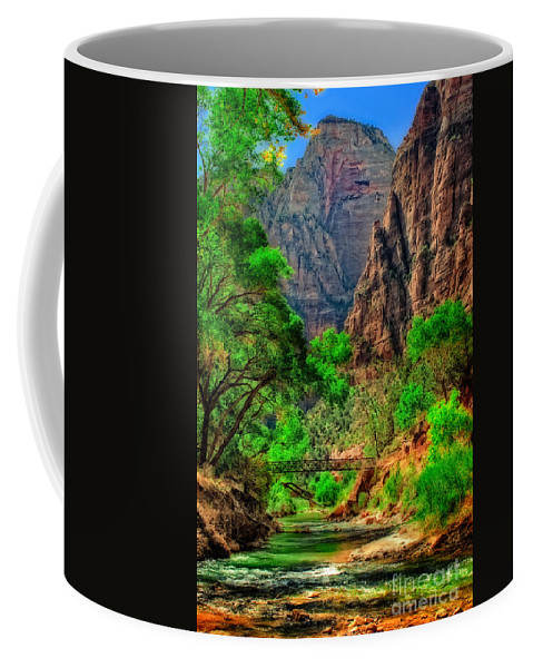 Zion Coffee Mug featuring the photograph Zion by Rick Mousseau