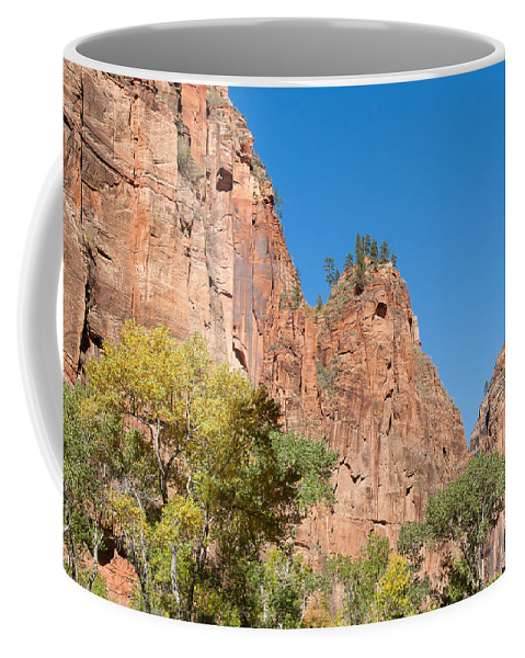 Landscape Coffee Mug featuring the photograph Zion Walls by John M Bailey