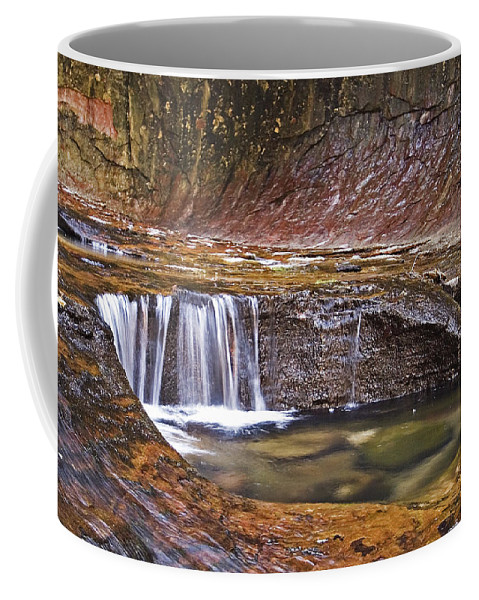 Zion; Canyon; United States; Usa; Southwest; Clouds; America; American; Beauty; Black; Deep; Desert; Environment; Erosion; Formation;  Coffee Mug featuring the photograph Zions 020 by Ingrid Smith-Johnsen