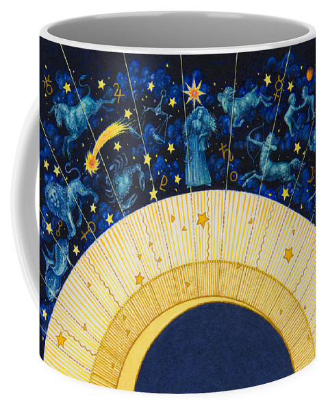 Astrology Coffee Mug featuring the painting Zodiac Moon by Lynn Bywaters